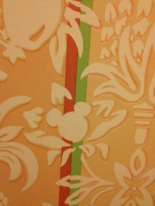 Mickey ears on wallpaper