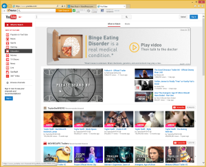 YouTube with ad