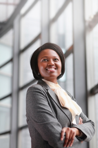 confident African business woman