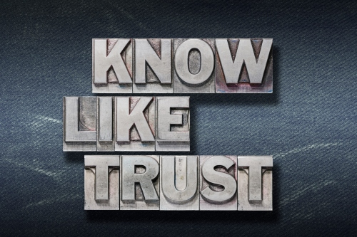know, like, trust den