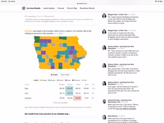 Live Iowa Caucus Results 2020 - The New York Times